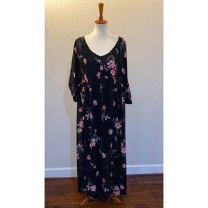 torrid Floral Midi Dress Size 1X Size 1S